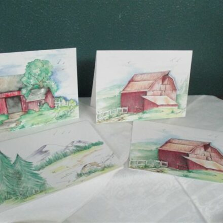 "NOTE-CARDS (watercolor-5x7"")"